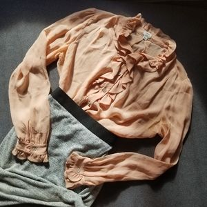 2/$20 - WILFRED peachy blouse (L)